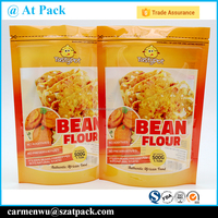 Custom printed laminated resealable plastic bag for frozen food