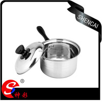 stainless steel capsuled bottom saucepan/ milk boiling pot/ stock pot in cookware