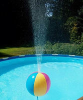 Inflatable 30 inch Glossy 6 Color GLOW STICK or SPRINKLER Beach Ball with Clear Frost Tube