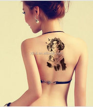 Hot back Tattoo Sticker/Eco-friendly Temporary Tattoos For women have stock ,From China Sexy Body Tattoo Sticker