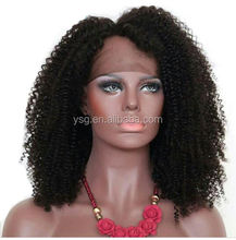 Natural looking human hair lace wigs kinky curl braided human hair wigs with baby hair