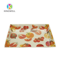 Wholesale Customized Competitive Price Chocolate blister vintage flat tray with handles