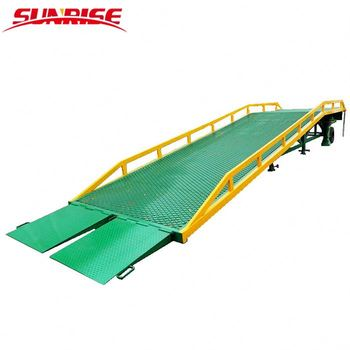 10ton mobile adjustable loading forklift dock ramp hydraulic loading ramps for trucks
