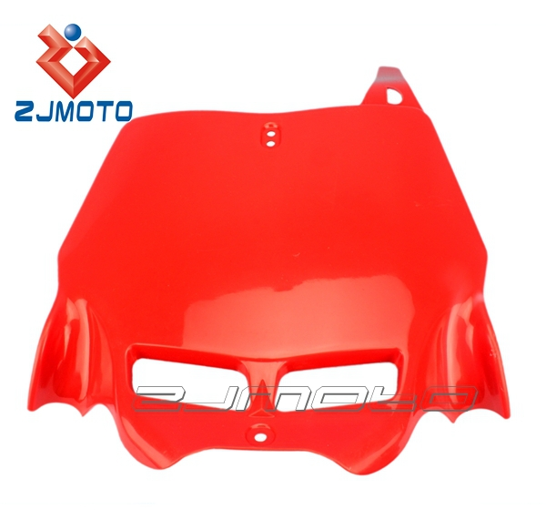 FNP-01-RD Red Universal ZJMOTO Dirt bike body kit front number plate bracket, bike number plate fit for CR CRF XR 80/85/125/250
