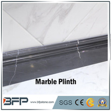 Polished Natural Stone M141 Nero Marquina Marble for Plinth and Skirting & Frame