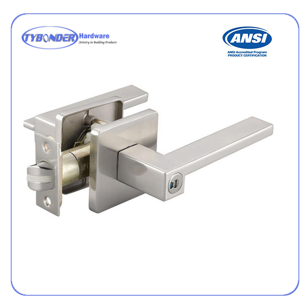 Zinc alloy Tubular Lever Door Handle Lock for wooden door