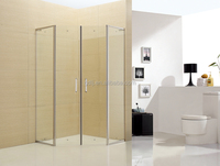 Professional stainless steel glass partition for bathroom parts