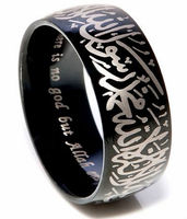 fashion tungsten mens islamic jewelry ring in arabic and english for sale