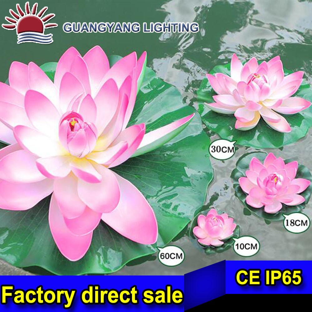 Dia 30-60cm customized EVA artificial floating flower with led light for water