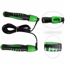 digital count bearing speed jump rope with foam handle