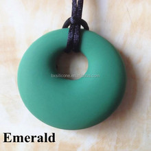 Wholesale China direct factory Chic BPA Free Teething Pendant Emerald,Silicone Teething Pendant Emerald