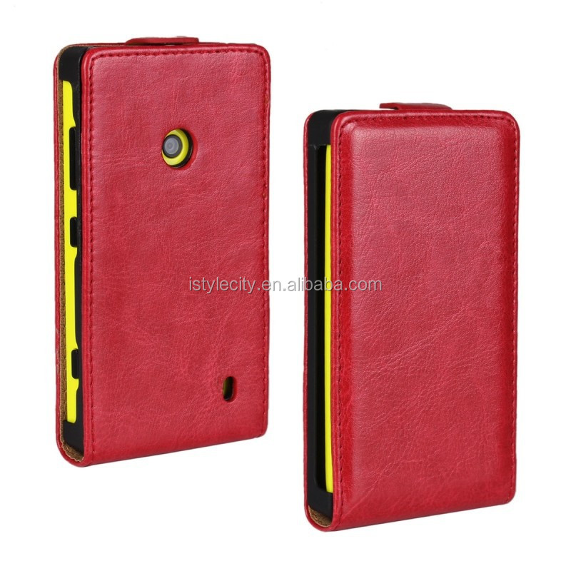 PU Leather Flip Case Cover For Nokia Lumia 620