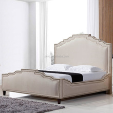 2016 luxury Euro Classic antique style Fabric chesterfield bed bedroom furniture soft beds frame k90
