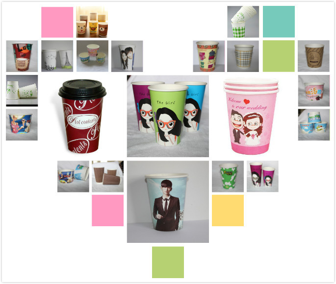 A series of custom printed double PE coated cute pattern ice cream paper cup for wholesale from Anhui manufacturer
