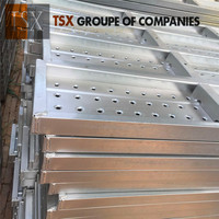 China Manufacturer Tianjin TSX-DP100109 aluminum scaffolding walk boards, aluminum trailer decking, aluminum walk board