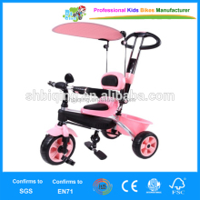 By parents power kids tricycle with canopy and carrier