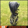 OEM/ODM Retractable Golf Waterproof Bag Rain Hood Cover, Black Waterproof Golf Rain Covers