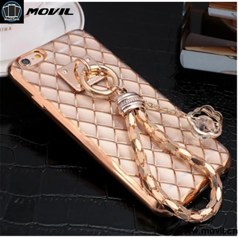 Bling Diamond Ring Holder Phone Case Crystal Flexible TPU Cover for Iphone 6 6s 6 plus with Kickstand