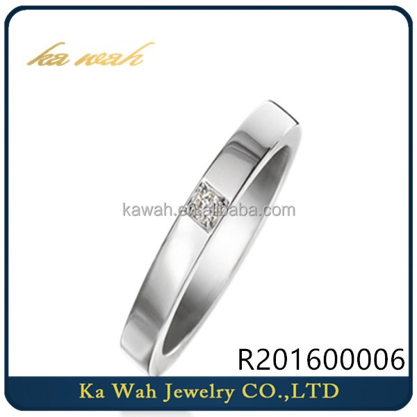 Hot Selling 18k Gold Real Diamond Couple Rings Jewellery Designs For Men Women in White Gold Ring