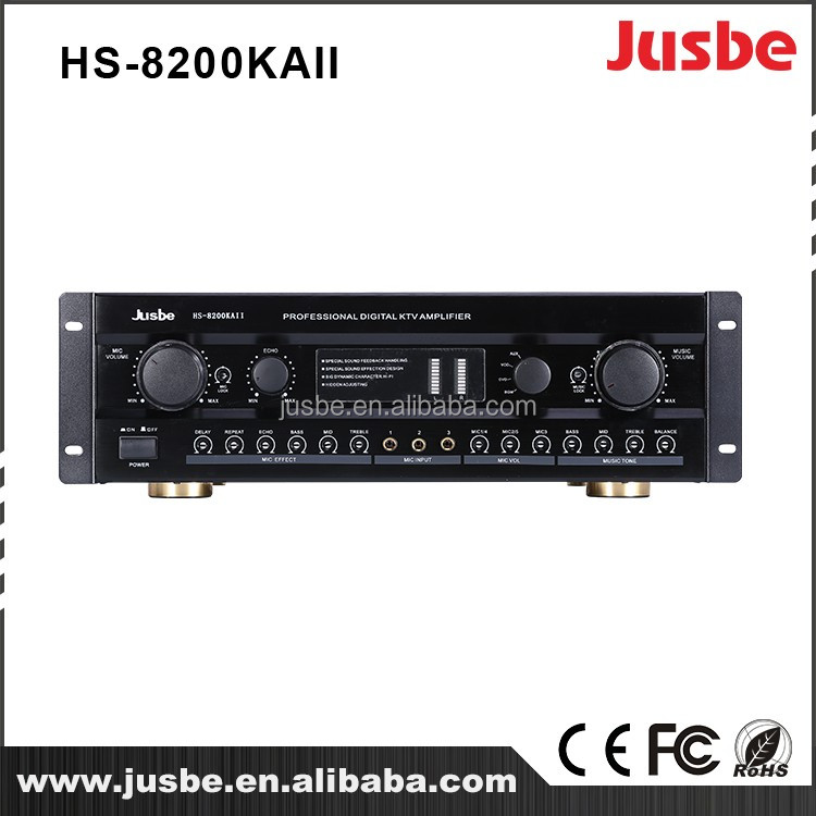 HS-8200KAII Jusbe hifi amplifier smart home audio 4 link 220W home surround sound system amplifier