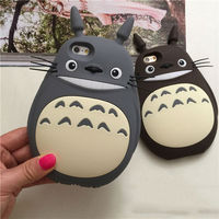 2 Color New Hot Sale Catoon Totoro Cat Soft Silicon Phone Back Cover Phone Case For Iphone DHL FREE SHIPPING