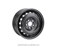 China factory 14x5J 4x100 car steel wheels