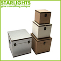 nested mdf wooden boxes with removable lid