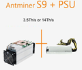 Best Resource Bitmain Antminer S9 14TH/S 13.5TH/S Bitcoin Miner Machine