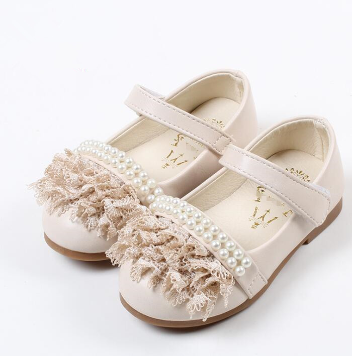 2016 new design round head kids shoes wholesale lace beaded baby girls sandals