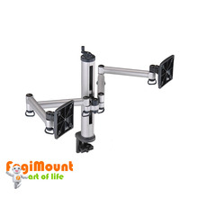 For 2 monitors With Handle on top Easy Adjustable With Flex Arm