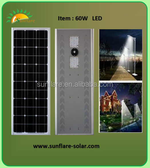 All in one integral solar street led light with factory price and high quality