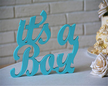 Table Decoration Glitter Baby wooden sign