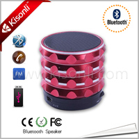 Portable Mini Bluetooth Speakers Metal Steel Wireless Smart Hands Free Speaker With FM Radio Support SD Card For Computer/Phone