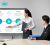 Dual system touch screen interactive smart led whiteboard with EMR input KAMVAS HUB GT-650