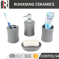 fashion design ceramic bathroom accessories set