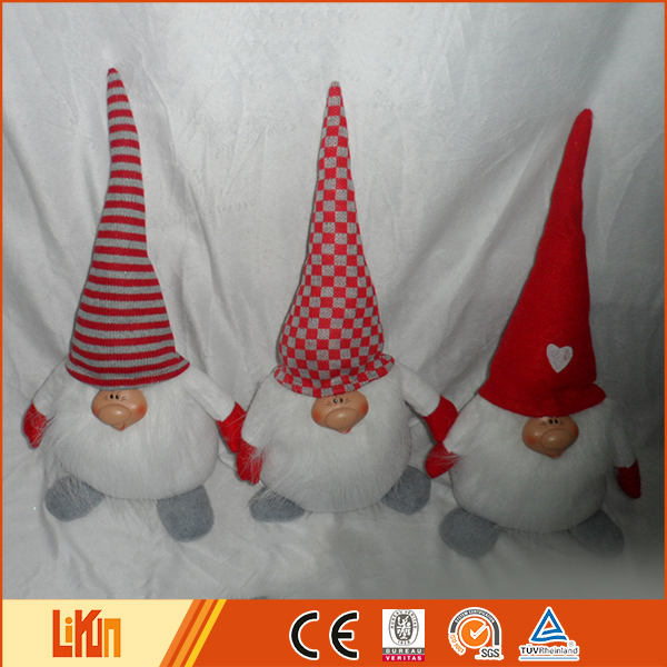 custom size sewing gnome plush christmas decoration toys plush santa claus
