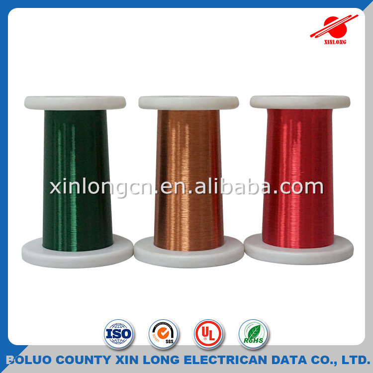 UL approved copper winding wire colored solderable 0.08 mm enameled copper wire