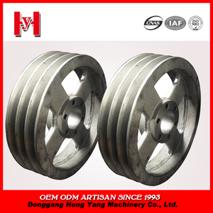 High quality cast iron v belt pulley for agricultural machinery