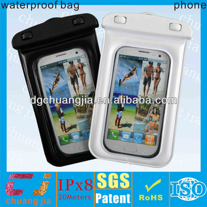 Sports armband waterproof phone bag for moto g with IPX8 certificate