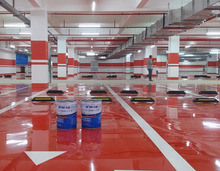 Anti-slip wear-resisting self-levelling epoxy floor coating with resistance to oil and chemical resistance