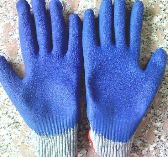 13 gauge Latex-coated Gloves with Crinkle for work protection