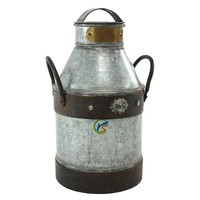 Galvanized Metal Decorative Old Milk Cans