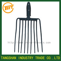 9 tine steel pitch fork head