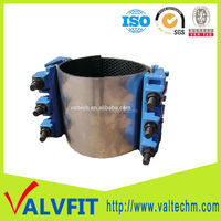 pipeline waterworks industry SS304 pipe repair clamp