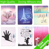 "For Apple iPad mini 7.9"" Case Flip leather Stand Ultra-Thin Slim Cover Luxury Colorful Cartoon Smart Case Free shipping"