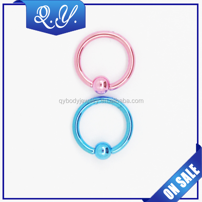 New design trendy fashion jewelry round shaped nose ring piercing