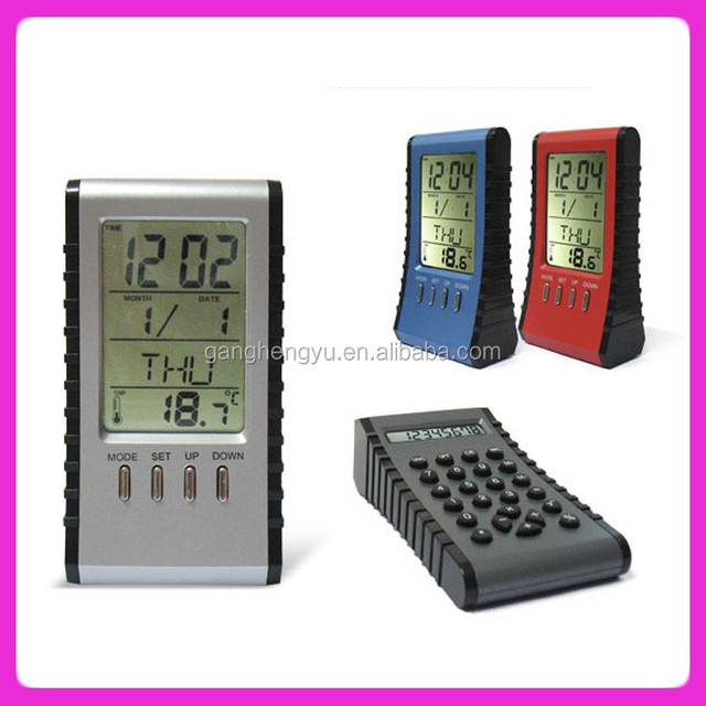 Electronic desktop calculator clock and Calendar calculator