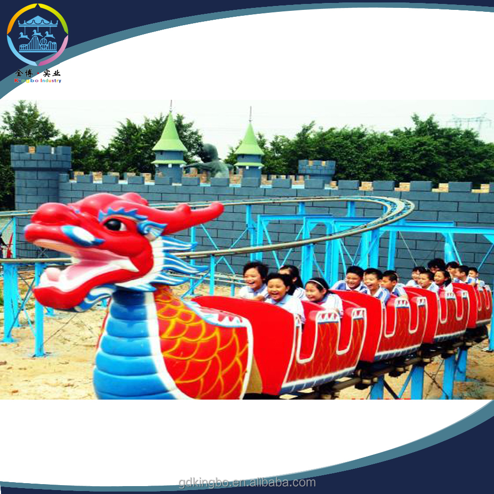 20-seat small golden dragon roller coaster