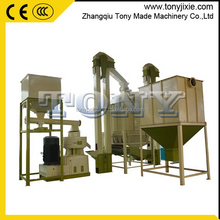 CE approved paddy straw pellet making line/chaff hay pellet plant/corn stem pellet line