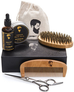 Private Label Organic Beard Grooming Care Kit Set For Men